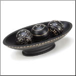 Black Wooden Decorative Ball Set (SKU: 10015354)