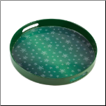 Green Snowflake Serving Tray (SKU: 10015514)