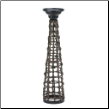 Knotted Rattan Candle Stand Large