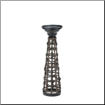 Knotted Rattan Candle Stand Small