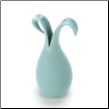 Tall Blue Lily Vase