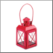 Red Railway Candle Lamp