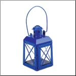 Blue Railway Candle Lamp