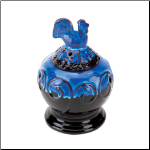 Cobalt  Rooster Oil Warmer