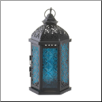 Blue Cove Candle Lantern