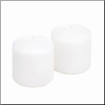 Unscented White Pillar Candle Set