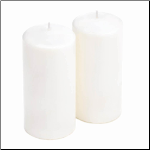 Unscented White Pillar Candle Duo