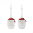 Santa Claus Flameless Candlesticks