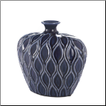 Deep Blue Small Lip Vase (SKU: 10017155)