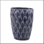 Deep Blue Wide Vase (SKU: 10017157)