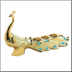 Peacock Jewel Candleholder