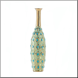 Peacock Long Neck Jewel Vase (SKU: 10017165)