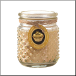 Butter Cream Hobnail Jar Candle