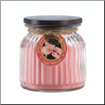 Royal Hibiscus Ribbed Jar Candle