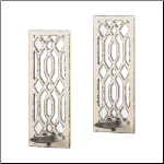 Deco Mirror Wall Sconce Pr.