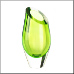 Green Cut Glass Vase (SKU: 10017386)