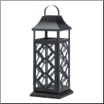 Black Damask Candle Lantern
