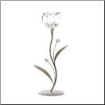 Crystal Flower Single Candleholder