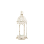 Graceful Distressed Small White Lantern
