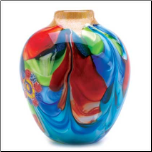 Floral Fantasia Art Glass Vase (SKU: 12982)