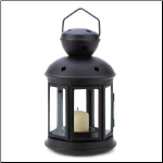 Colonial Candle Lamp, Black