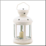 Colonial Candle Lamp, White