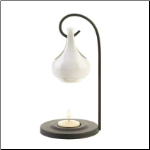 White Tear Drop Oil Warmer