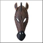 Zebra Mask Wall Plaque