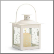 Ivory Glass Lantern, Small