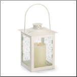 Ivory Glass Lantern, Large