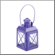 Purple Railway Candle Lamp