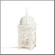 White Scrollwork Table Lamp