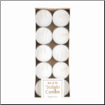 White Tealight Candles Pack Of 10