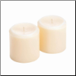 Vanilla Ivory Pillar Candle Set