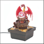 Red Dragon Tabletop Water Fountain