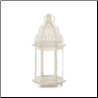 Sublime Distressed White Large Lantern