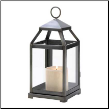 Rustic Silver Candle Lantern