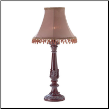 Beaded Leaf Motif Lamp