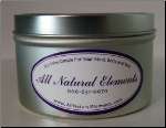 Soy Wax Candle Travel Tin By All Natural Elements