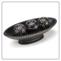 Black Wooden Decorative Ball Set