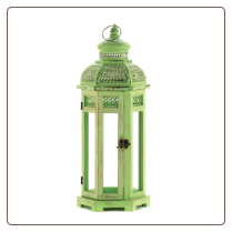 Green Tower Lantern Tall