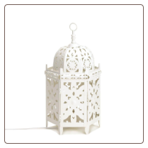 White Moroccan Table Lamp