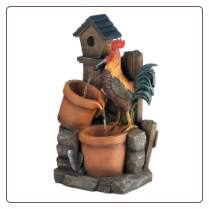 Rooster Water Fountain