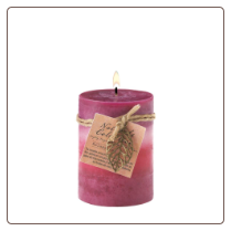 Relaxation Aroma Pillar Candle 3X4
