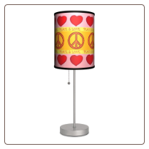 Peace & Love Lamp
