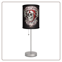 Hollywood Hot Rods Skull Lamp