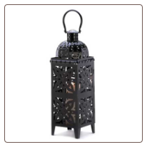 Medallion Lantern, Black, Giant-Size