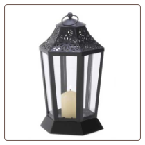 Midnight Garden Candle Lamp