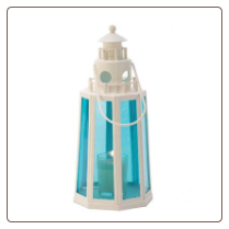 Ocean Blue Lighthouse Candle L