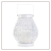 White Lace Design Candle Lamp